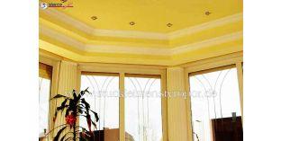 652. Beltéri stukkó dekorációs ötletek: nappaliszoba díszítése stukkóval
