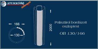 Polisztirol oszloptest bordázott OB 130/166