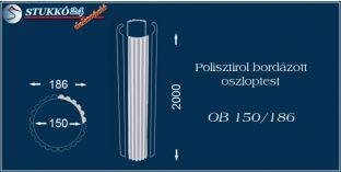 Polisztirol oszloptest bordázott OB 150/186