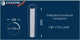 Polisztirol oszloptest bordázott OB 170/206