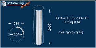 Polisztirol oszloptest bordázott OB 200/236