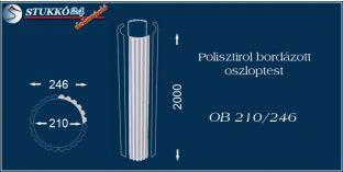 Polisztirol oszloptest bordázott OB 210/246