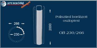 Polisztirol oszloptest bordázott OB 230/266