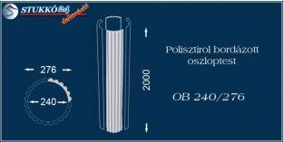 Polisztirol oszloptest bordázott OB 240/276