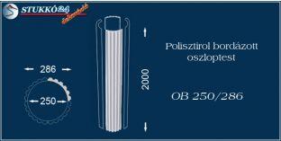 Polisztirol oszloptest bordázott OB 250/286