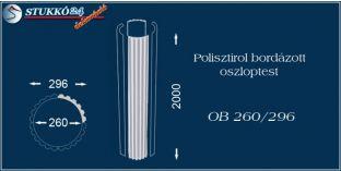Polisztirol oszloptest bordázott OB 260/296