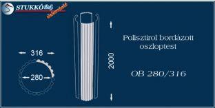 Polisztirol oszloptest bordázott OB 280/316