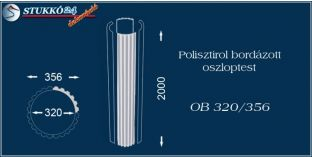 Polisztirol oszloptest bordázott OB 320/356
