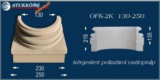 Kérgesített polisztirol oszloptalp klasszikus OFK-2K 130/250-p