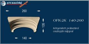 Kérgesített polisztirol klasszikus oszlopfő talppal OFK-2K 140/260