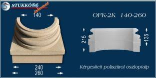 Kérgesített polisztirol oszloptalp klasszikus OFK-2K 140/260-p