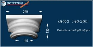 Polisztirol klasszikus oszlopfő talppal OFK-2 140/260