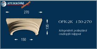 Kérgesített polisztirol klasszikus oszlopfő talppal OFK-2K 150/270