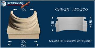 Kérgesített polisztirol oszloptalp klasszikus OFK-2K 150/270-p