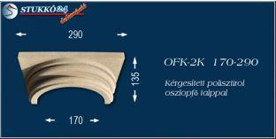 Kérgesített polisztirol klasszikus oszlopfő talppal OFK-2K 170/290