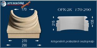 Kérgesített polisztirol oszloptalp klasszikus OFK-2K 170/290-p