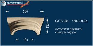 Kérgesített polisztirol klasszikus oszlopfő talppal OFK-2K 180/300