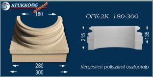 Kérgesített polisztirol oszloptalp klasszikus OFK-2K 180/300-p