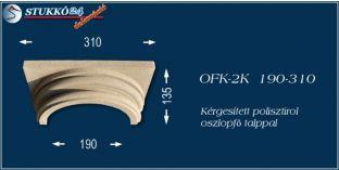 Kérgesített polisztirol klasszikus oszlopfő talppal OFK-2K 190/310