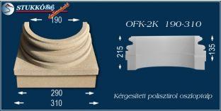 Kérgesített polisztirol oszloptalp klasszikus OFK-2K 190/310-p