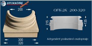 Kérgesített polisztirol oszloptalp klasszikus OFK-2K 200/320-p