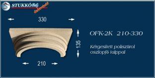 Kérgesített polisztirol klasszikus oszlopfő talppal OFK-2K 210/330