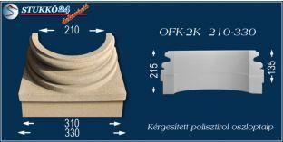 Kérgesített polisztirol oszloptalp klasszikus OFK-2K 210/330-p