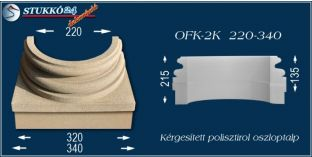 Kérgesített polisztirol oszloptalp klasszikus OFK-2K 220/340-p