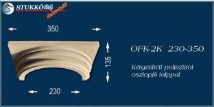 Kérgesített polisztirol klasszikus oszlopfő talppal OFK-2K 230/350