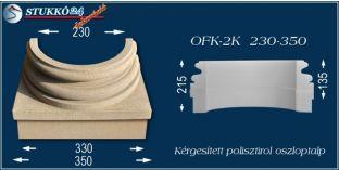 Kérgesített polisztirol oszloptalp klasszikus OFK-2K 230/350-p