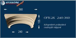 Kérgesített polisztirol klasszikus oszlopfő talppal OFK-2K 240/360