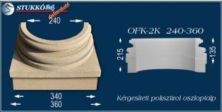 Kérgesített polisztirol oszloptalp klasszikus OFK-2K 240/360-p