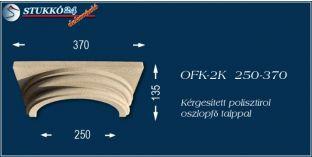 Kérgesített polisztirol klasszikus oszlopfő talppal OFK-2K 250/370