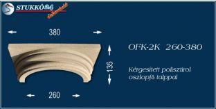 Kérgesített polisztirol klasszikus oszlopfő talppal OFK-2K 260/380