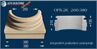 Kérgesített polisztirol oszloptalp klasszikus OFK-2K 260/380-p