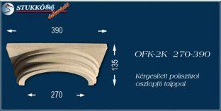Kérgesített polisztirol klasszikus oszlopfő talppal OFK-2K 270/390
