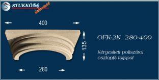 Kérgesített polisztirol klasszikus oszlopfő talppal OFK-2K 280/400
