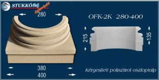 Kérgesített polisztirol oszloptalp klasszikus OFK-2K 280/400-p