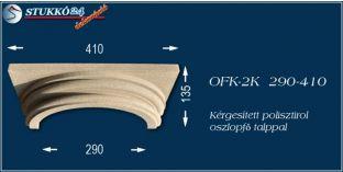 Kérgesített polisztirol klasszikus oszlopfő talppal OFK-2K 290/410