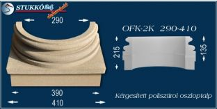 Kérgesített polisztirol oszloptalp klasszikus OFK-2K 290/410-p