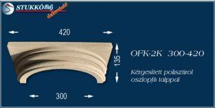 Kérgesített polisztirol klasszikus oszlopfő talppal OFK-2K 300/420