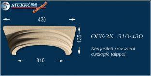 Kérgesített polisztirol klasszikus oszlopfő talppal OFK-2K 310/430