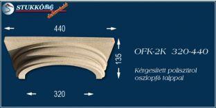 Kérgesített polisztirol klasszikus oszlopfő talppal OFK-2K 320/440