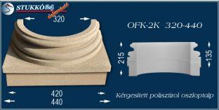 Kérgesített polisztirol oszloptalp klasszikus OFK-2K 320/440-p