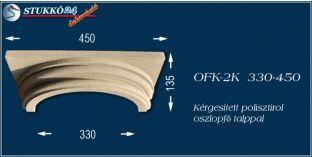 Kérgesített polisztirol klasszikus oszlopfő talppal OFK-2K 330/450
