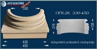 Kérgesített polisztirol oszloptalp klasszikus OFK-2K 330/450-p