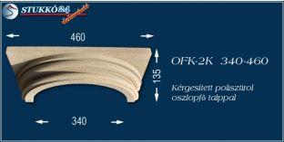 Kérgesített polisztirol klasszikus oszlopfő talppal OFK-2K 340/460