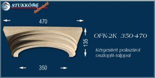 Kérgesített polisztirol klasszikus oszlopfő talppal OFK-2K 350/470