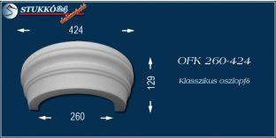 Polisztirol oszlopfő klasszikus mintázattal OFK 260/424