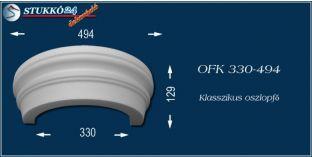 Polisztirol oszlopfő klasszikus mintázattal OFK 330/494